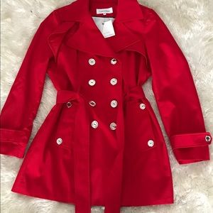 Calvin Klein Belted water resistant trench coat
